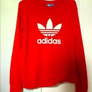 Red adidas sweatshirt